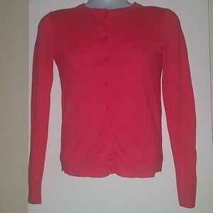 J.Crew Pink Button Down Caryn Cardigan Sweater